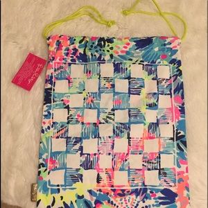 Lilly Pulitzer tote, beach bag , school tote